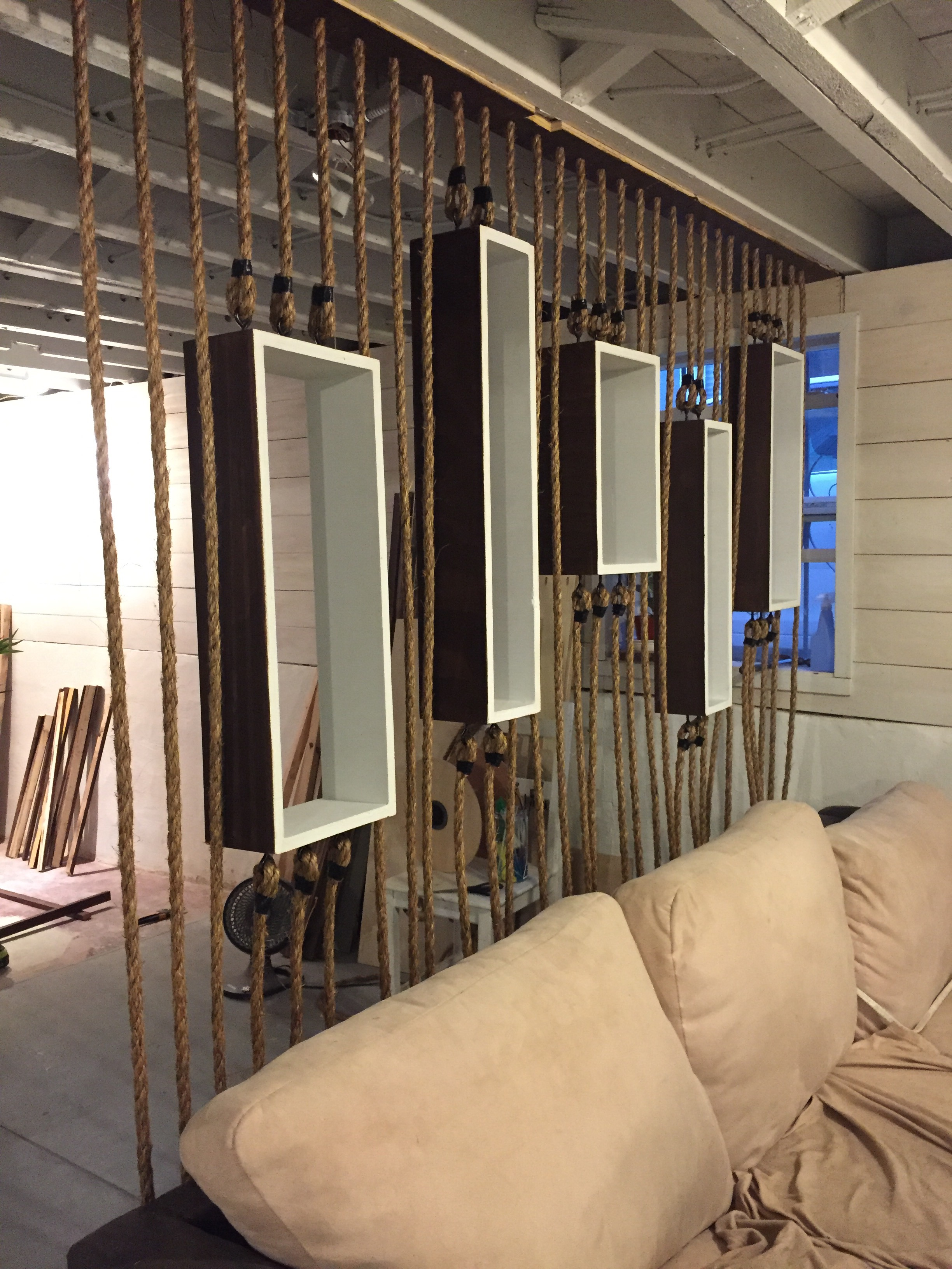 Interior Design Room Dividers: PROJECT: DIY Rope Wall Separator